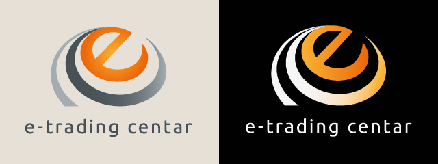 E trade center logotype