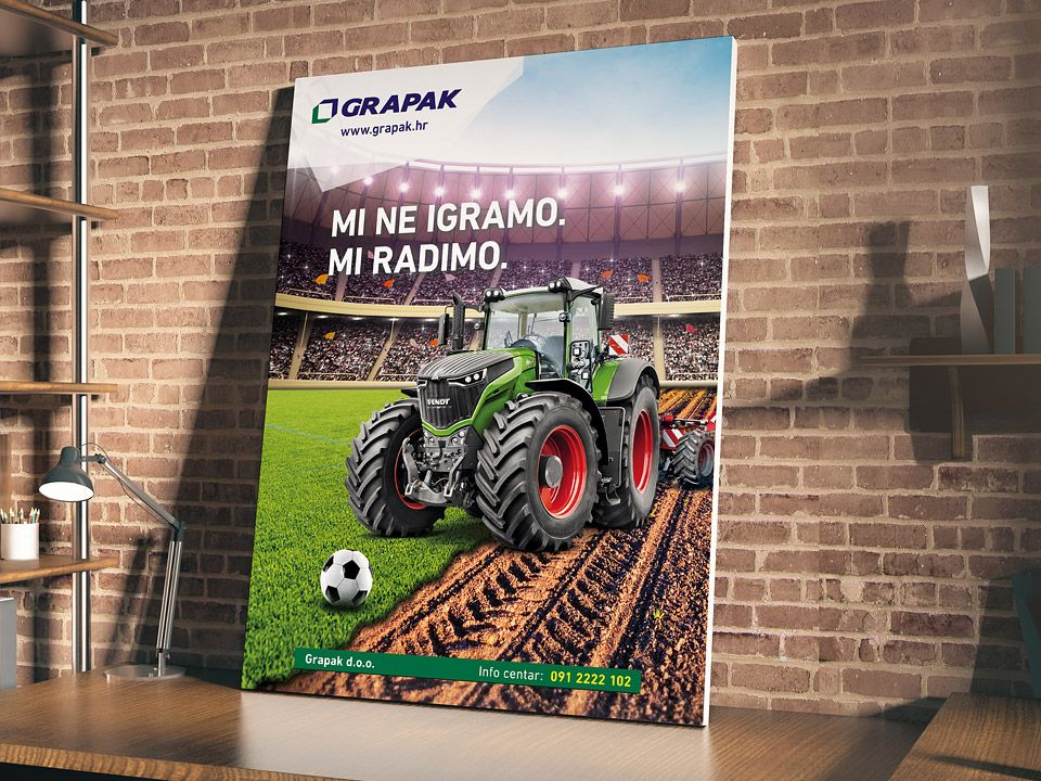 Ads design for Fendt brand mechanization