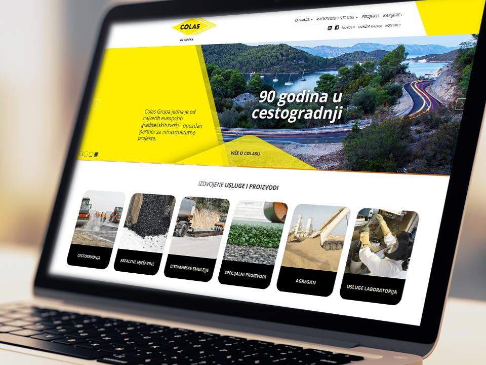Colas Croatia corporate website