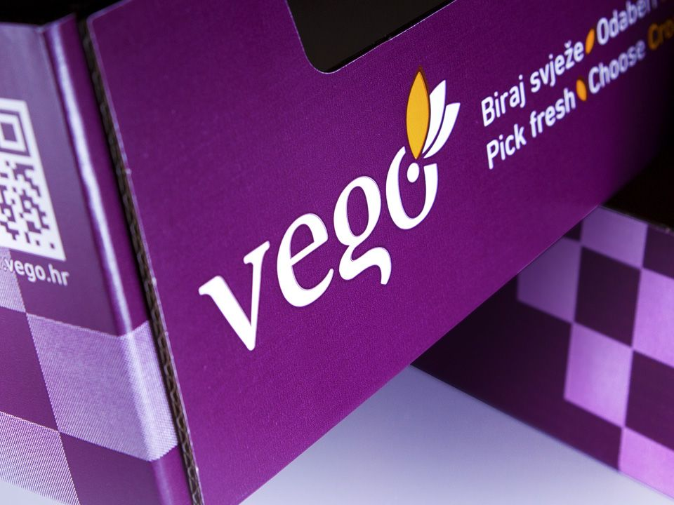 Tansport and sales packaging design for Vego brand