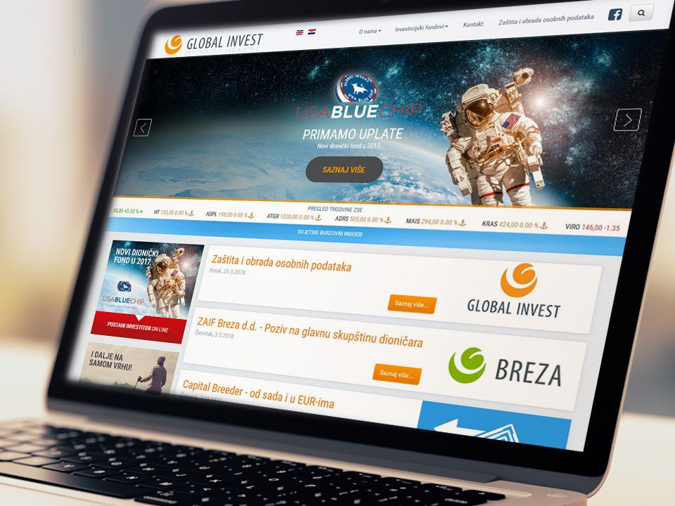 Global Invest website